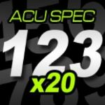12cm (120mm) Race Numbers ACU SPEC - 20 pack